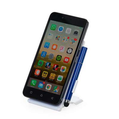 """SOMA Brindes - Suporte plástico para celular. Material plástico colorido, possui """"disco"""" anelar retrátil que ao puxá-lo abrirá o encaixe para os dedos e possibilitar..."""