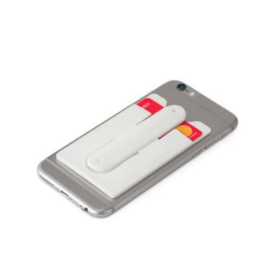 qi-brindes - Porta cartões para celular