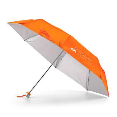 QI Brindes - Guarda-chuva dobrável. Poliéster 190T. Dobrável em 3 seções. Fornecido em bolsa. ø960 mm | 240 mm | Bolsa: ø40 x 225 mm