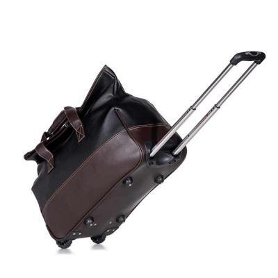 QI Brindes - Bolsa de viagem com rodinhas. Confeccionado em poliuretano de alta qualidade, possui alças para mãos com suporte de botão para uni-las, fivela superio...