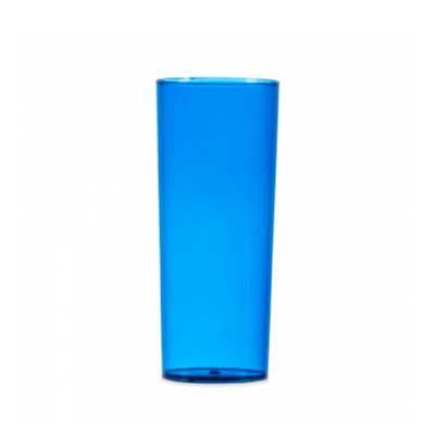 QI Brindes - Copo long drink 330ml, material acrílico translúcido.  Medidas aproximadas para gravação (CxD):  14 cm x 6 cm  Tamanho total aproximado (CxD):  15,5 c...