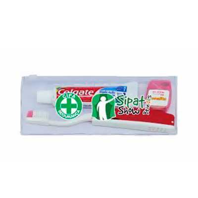 QI Brindes - Descrição Este kit contém - Creme dental  30g, 1 ESCOVA DE VIAGEM E UM FIO DENTAL  - 01 (uma) Escova dental descartável de 20 tufos Cor: branca - Néce...
