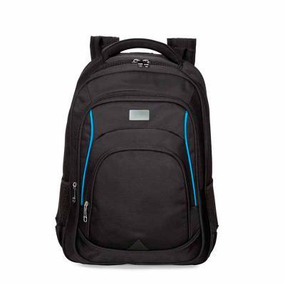 QI Brindes - Mochila de alta confecção em poliéster com detalhes em nylon. Com amplo espaço, possui compartimento grande com bolso para notebook, compartimento med...