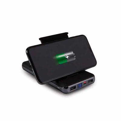 QI Brindes - Power Bank de Indução com Visor personalizada