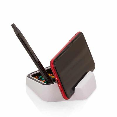QI Brindes - Suporte para telefone Celular, Porta lápis, Porta Clipes.