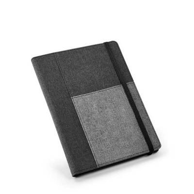 QI Brindes - Caderno com capa em poliéster personalizado