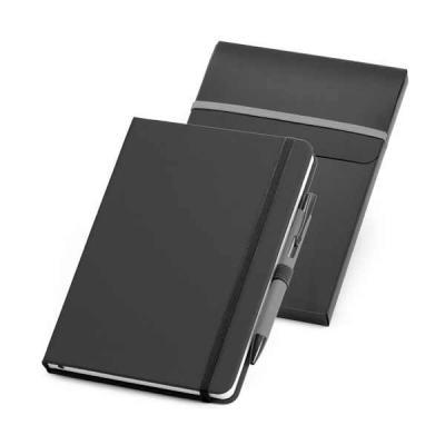 QI Brindes - Kit de caderno e esferográfica personalizada