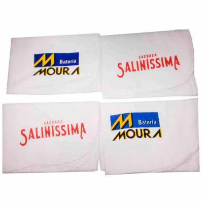 Work Promo - Flanela em tecido 100% algodão 250 gr/m2 ,  gravado em silk screen, acabamento em overlock, embalado em saquinho de pp transparente.