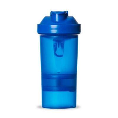 Tiff Gráfica - Coqueteleira 400ml plástica com porta suplementos desmontável. Possui copo 400ml (medida em ml e oz), compartimento com divisória para comprimidos, co...
