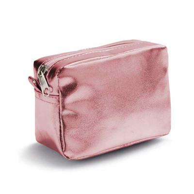 Tiff Gráfica - Bolsa Multiuso Personalizada em PVC. No tamanho: 140 x 95 x 70 mm. Disponível nas cores: Rosa, Prata e Dourado. Personalizada em Silkscreen.