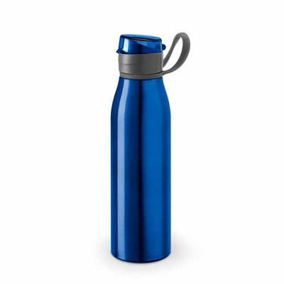 Tiff Gráfica - Squeeze em Alumínio com capacidade de 650 ml com alça emborrachada para segurar e tampa. Personalização sugerida: Laser ou Silkscreen.