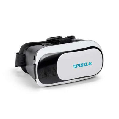 Tiff Gráfica - Óculos de realidade virtual, com elásticos ajustáveis nas laterais e superior. Lentes ajustáveis para smartphones de 4.7'' a 6''. Compatíveis com Andr...