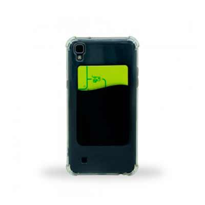 Tiff Gráfica - Porta cartão para celular, basta remover o selo traseiro e colar a parte adesivada no celular. Material em PVC espesso e resistente. Nas cores Preta,...