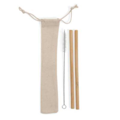 Tiff Gráfica - Kit Canudo de Bambu Personalizado contendo 02 canudos e 01 escova limpadora. Embalagem em algodão reciclado. Tamanho: 23cm x 0,4cm. Personalização em...