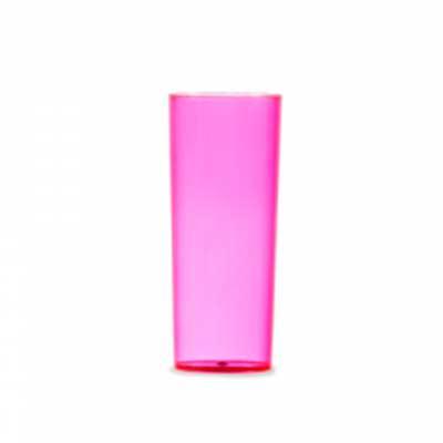 Tiff Gráfica - Copo Long Drink 330ml, material acrílico translúcido ou leitoso. Personalização em Silkscreen.