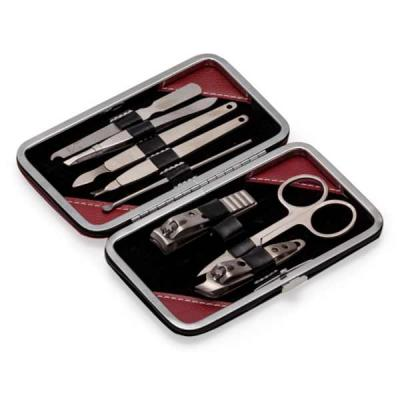 Tiff Gráfica - Kit manicure Personalizado com 9 peças em estojo de couro sintético