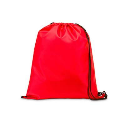 Tiff Gráfica - Mochila saco em Nylon inteira colorida, com duas alças para costa, fechamento superior. Personalização em Silkscreen.