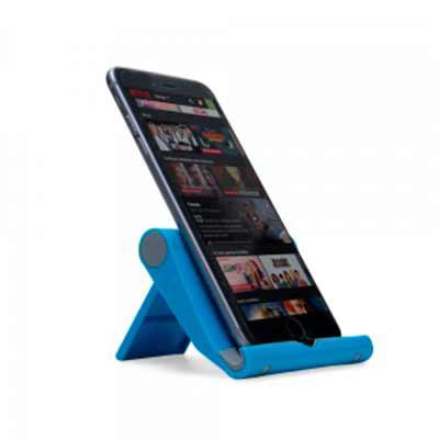 Tiff Gráfica - Suporte plástico para celulares e tablets. Material plástico resistente colorido com detalhes cinza, basta levantar o suporte traseiro para utilização...
