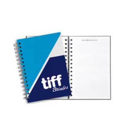 Tiff Gráfica - Caderno Personalizado Capa Dura no tamanho: 25 x 18cm, Capa Dura Personalizada a 4 cores, no Couchê Fosco 150g, 96 folhas de miolo Personalizadas 1 x...