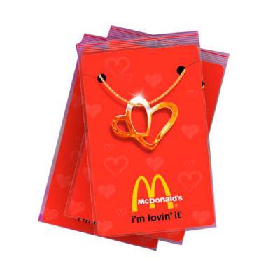 Fox Brindes que Valem Ouro - Pingente Coração Duplo e embalagem personalizada