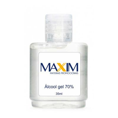 Maxim Brindes - Álcool gel antisséptico 35ml Personalizado