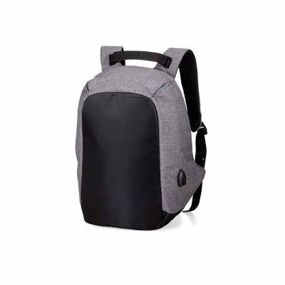 Maxim Brindes - Mochila para Notebook anti furto com entrada USB, em poliéster e com detalhes em Nylon