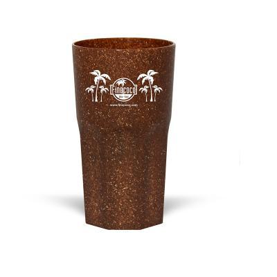 Maiz Brindes - Copo Itália Ecológico 380ml  Material composto de fibra de coco ou madeira  Cores Coco ou Madeira  Frete Grátis Rodoviário (Nordeste - Sul - Sudeste...