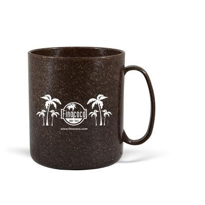 Maiz Brindes - Caneca Redonda Ecológica de Fibra de Coco ou Madeira  Capacidade 400ml  Material composto de fibra de coco ou madeira  Pode ser levada ao micro-ond...