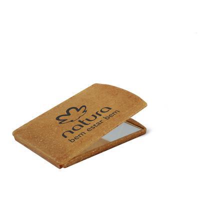 Maiz Brindes - Espelho de Bolsa Ecológico de Fibra de Coco ou Madeira e Tampa de Proteção Artiulada • Material composto com de fibra de coco ou madeira • Cores Coco...
