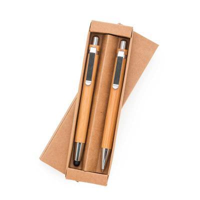 Zoom Brinde - Kit Ecológico Caneta e Lapiseira Bambu