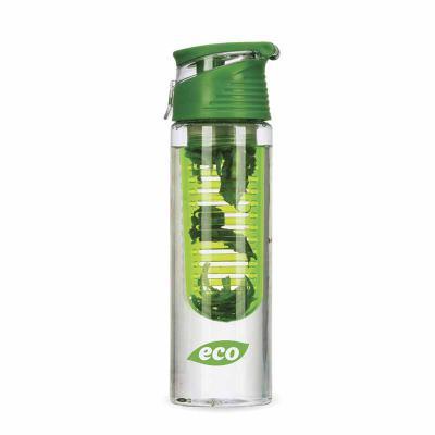 Zoom Brinde - Garrafa plástica personalizada 750 ml com infusor de frutas, tampa e alça, plástico utilizado AS (estireno de acrilonitrilo).   Excelente brinde promo...