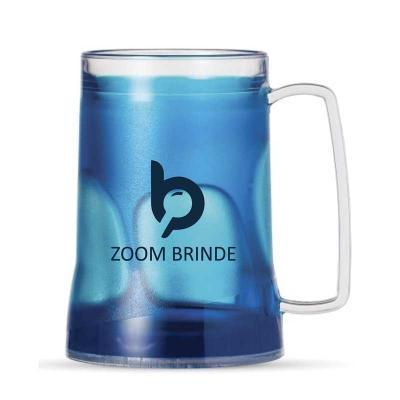 Zoom Brindes - Caneca acrílica 400ml personalizada com gel térmico, congelar apenas de boca para baixo no máximo 48hs a cada congelamento.  Excelente produto para pr...