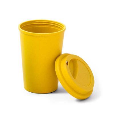 Zoom Brinde - Copo para viagem ecológico Fibra de bambu personalizado com tampa.  Capacidade até 450 ml. Medida: 9,3 x 13,4 cm