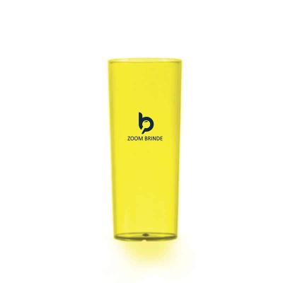 Zoom Brinde - Copo long drink promocional 330ml, material acrílico translúcido.  Medida: 15,5 cm x 6,1