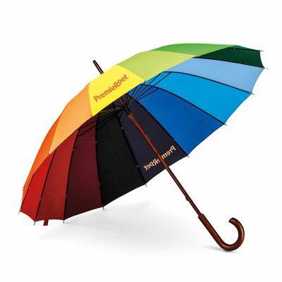 Zoom Brindes - Guarda-chuva colorido personalizado no material pongee (pano macio e fino) melhor qualidade em guarda chuvas.