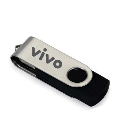 Zoom Brindes - Pen Drive Giratório Metálico Personalizado 4/8/12 GB  Pen drive de metal giratório, parte interna  em plástico resistente.   A melhor propaganda é fei...