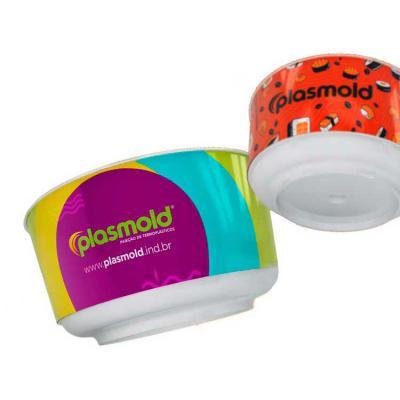Plasmold - O Bowl personalizado com tecnologia de impressão In Mold Label 360° é uma excelente opção para projetos onde é necessário rotular marcas em alta resol...