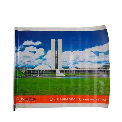 Rnaza Prana Material Promocional - Bandeirinha plástica impressão cromia em flexografia nas medidas 40 x 60 cm e 30 x 40 cm com cabinho