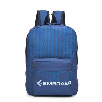 Rnaza Prana Material Promocional - Mochila personalizada em poliéster com bolso frontal e zíper