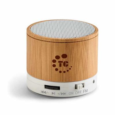 Rnaza Material Promocional - Caixa de som em Bambu