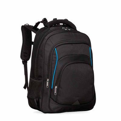 Over Brindes - Mochila personalizada de alta confecção em poliéster com detalhes em nylon. Com amplo espaço, possui compartimento grande com bolso para notebook, com...