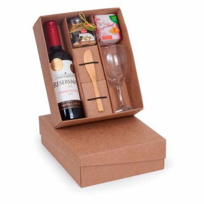 Over Brindes - Kit vinho gourmet personalizável