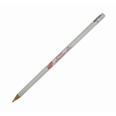 Aguia Brindes - Lápis com borracha  Nas cores branco e vermelho Com estampa  18,5cm x 0,5cm