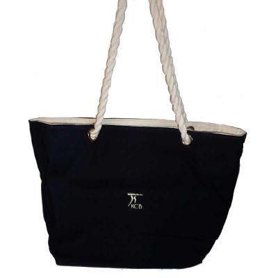 KCB Acessórios - Bolsa de lona com alça de algodão torcido