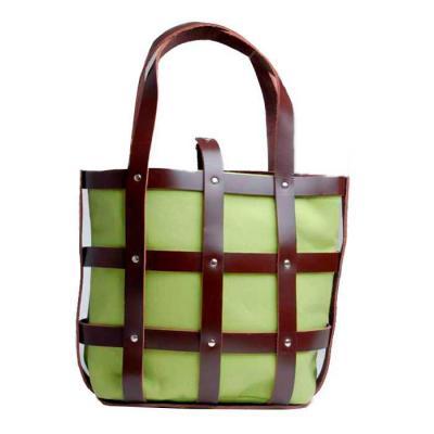 KCB Acessórios - Bolsa de couro com saco de lona intercambiável