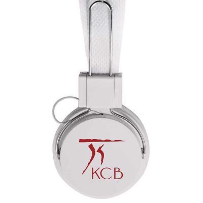 KCB Acessórios - Fone de ouvido estéreo com microfone, material em plástico resistente com haste revestida de espuma e alças ajustáveis com fone giratório. Microfone a...