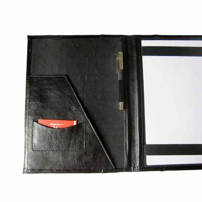 KCB Acessórios - Pasta em couro, com porta papéis e documentos, com porta cartões, porta canetas e porta blocos, forrada em nylon 70 resinado