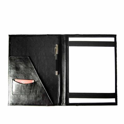 KCB Acessórios - Pasta em couro, com porta papéis e documentos, com porta cartões, porta canetas e porta blocos com forro personalizado
