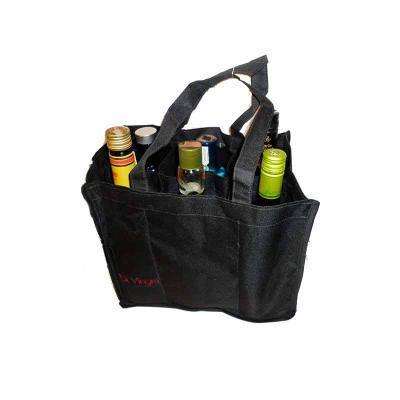 KCB Acessórios - Bolsa para transporte de 6 garrafas com fundo acolchoado