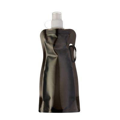 Leo Brindes Personalizados - Squeeze Plástico Dobrável personalizado 480ml plástico Squeeze colorido acinturado com mosquetão superior de acordo com a cor do squeeze, possui tampa...
